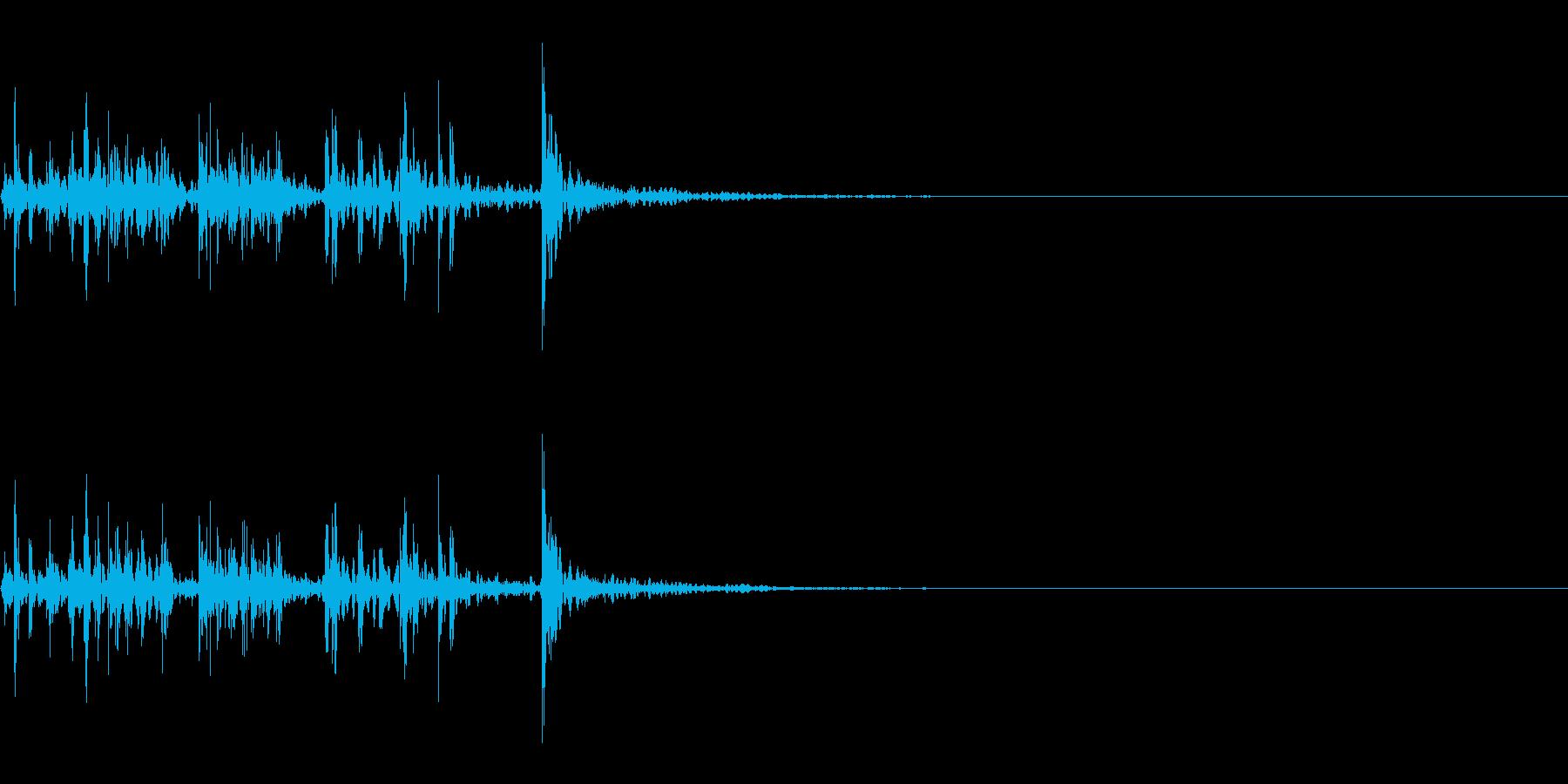スパーク音-44の再生済みの波形