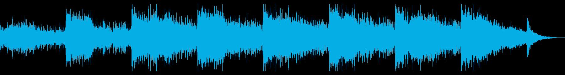 不気味なノイズのドローンの再生済みの波形