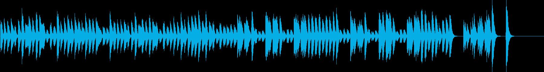 軽快で愉快なピアノ曲の再生済みの波形