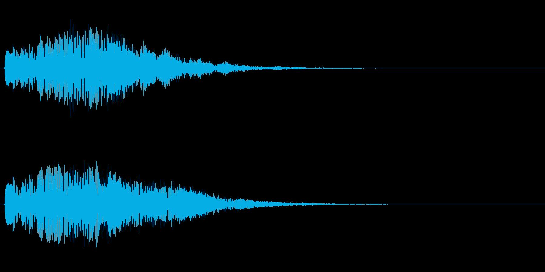 キラキラしたベルの上昇音4の再生済みの波形