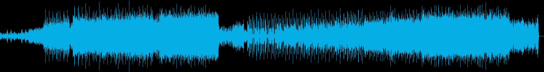 バトルシーンや緊迫したシーンのBGMの再生済みの波形