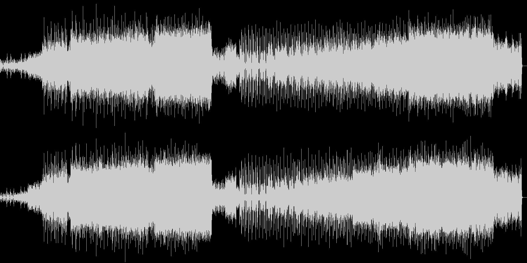 バトルシーンや緊迫したシーンのBGMの未再生の波形