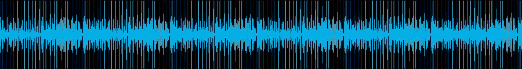 ビートの繰り返しにノスタルジーなシンセの再生済みの波形
