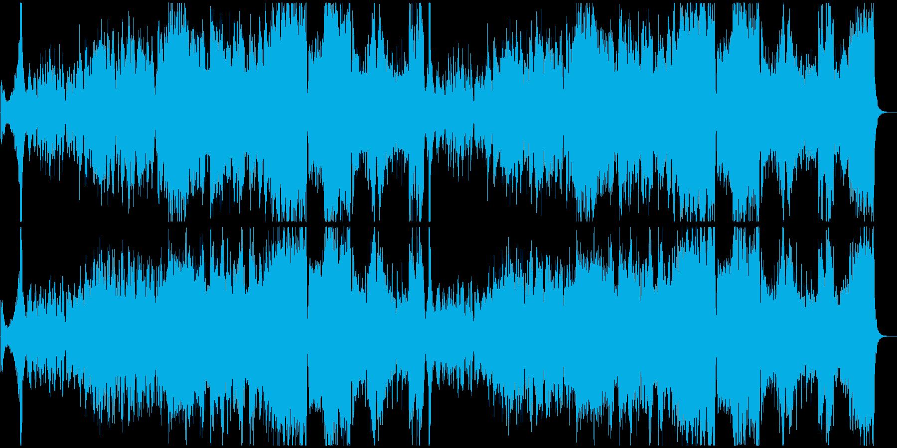 戦場に赴く兵士を讃えるオーケストラ曲の再生済みの波形