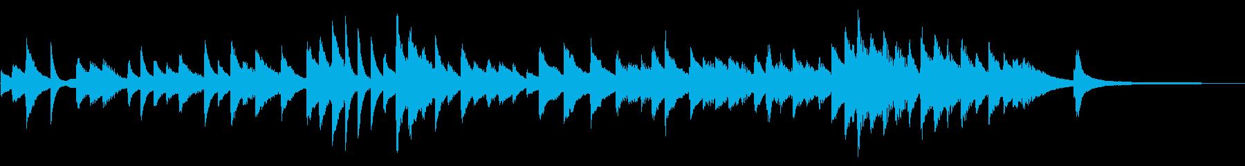 ピアノのみの短い癒しインストの再生済みの波形
