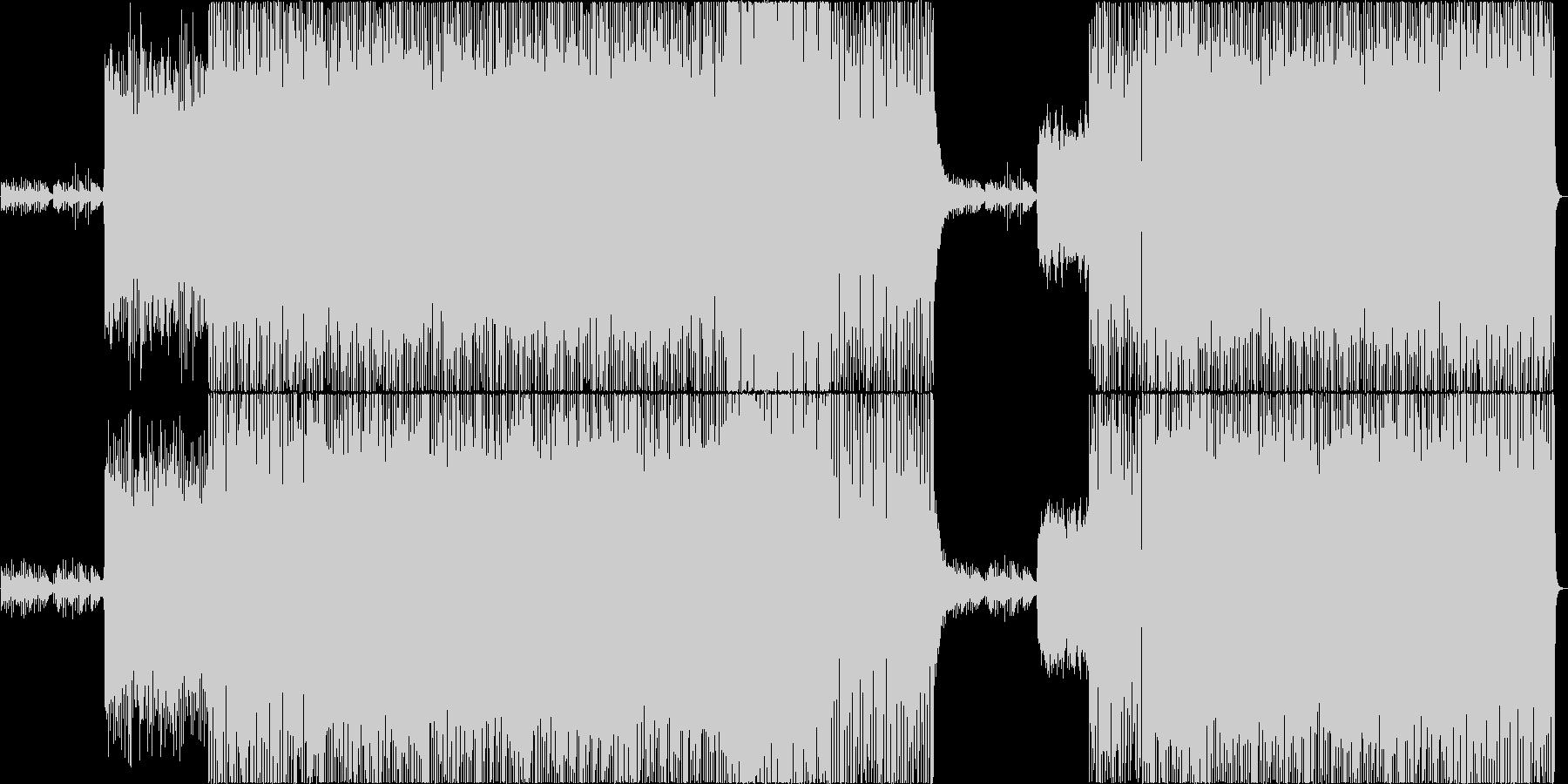 現代的でロックな戦闘曲/ピアノの未再生の波形