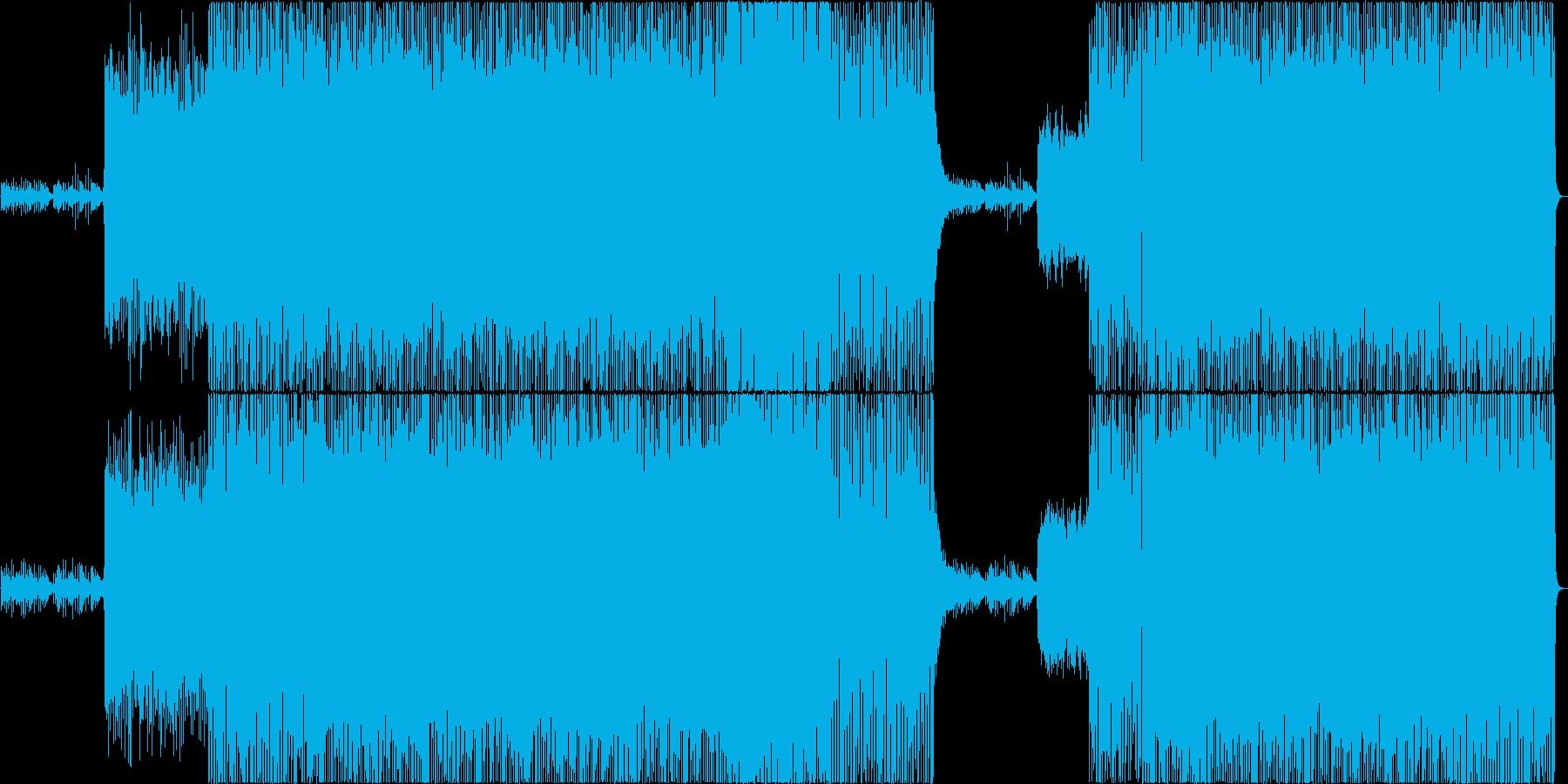 現代的でロックな戦闘曲/ピアノの再生済みの波形
