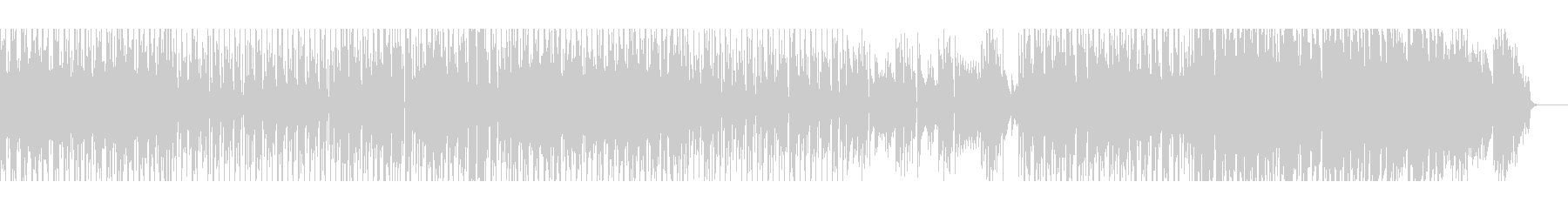 【パーカッション無し】スペーシーファンクの未再生の波形