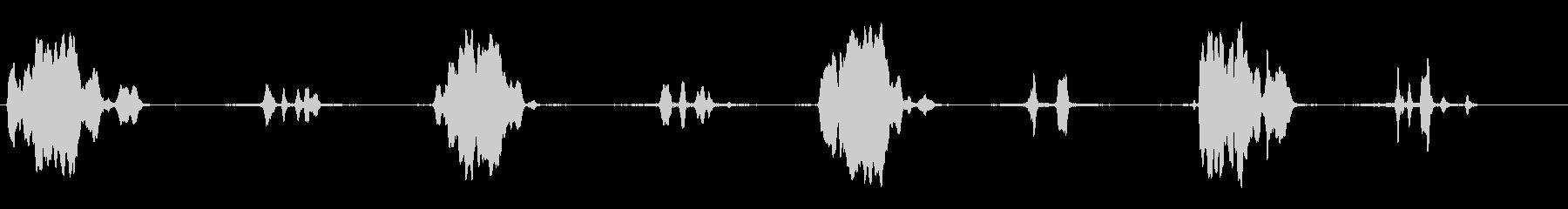 ポーチスイングキーキーイング(遅い)の未再生の波形