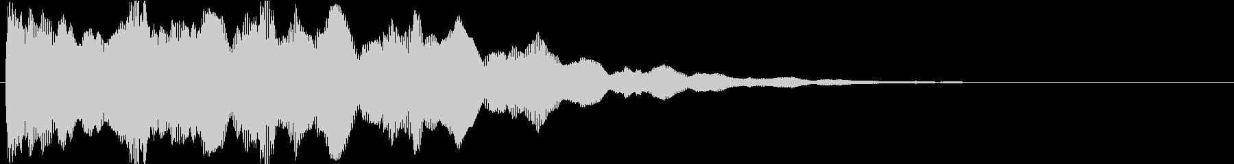 ピン:アニメや漫画で閃く時の音6の未再生の波形