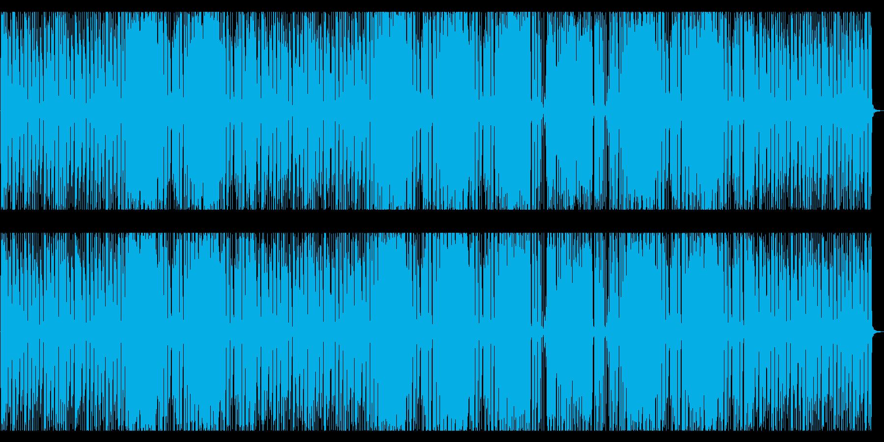 緊迫した侵入任務のようなBGMの再生済みの波形