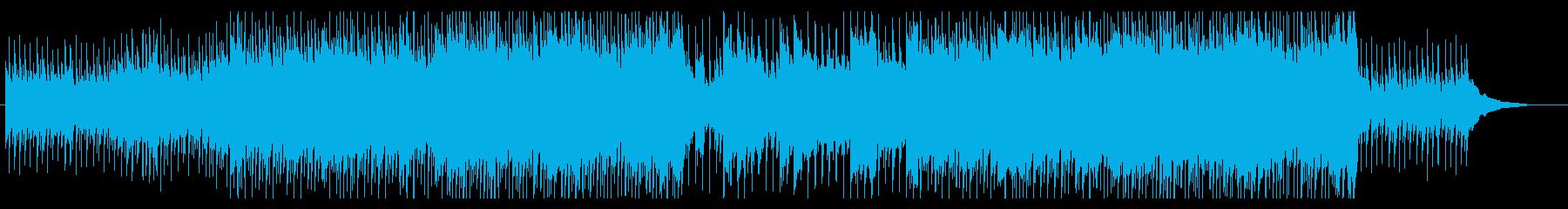 企業VP・ほのぼのしたギター・四つ打ちの再生済みの波形