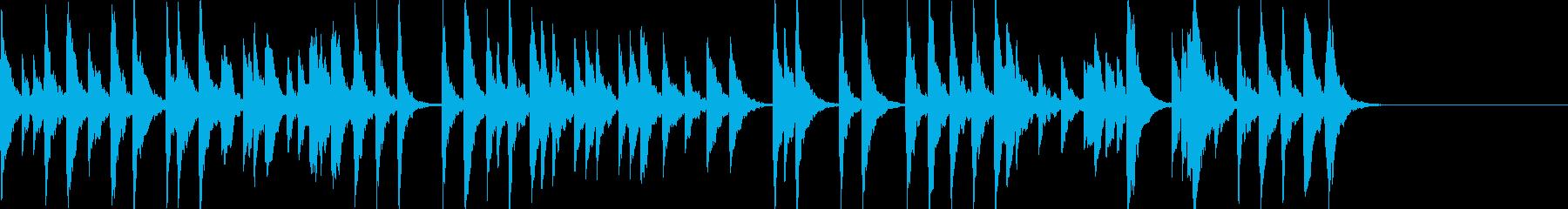 「スカボローフェア」オルゴールbpm66の再生済みの波形
