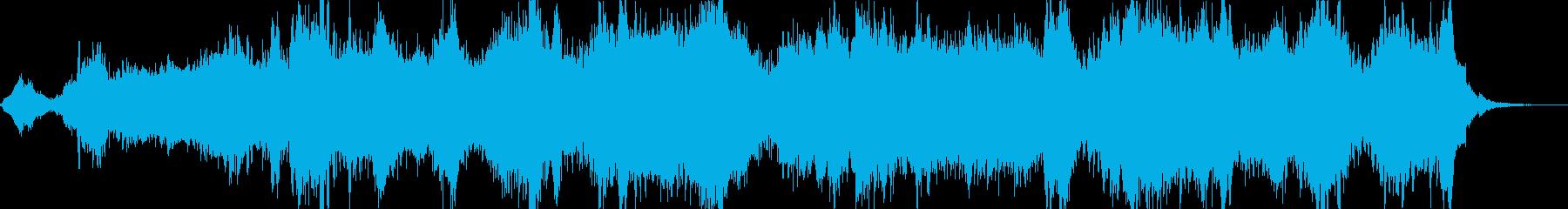 眠くなるアルファ波がでる癒しの音楽の再生済みの波形