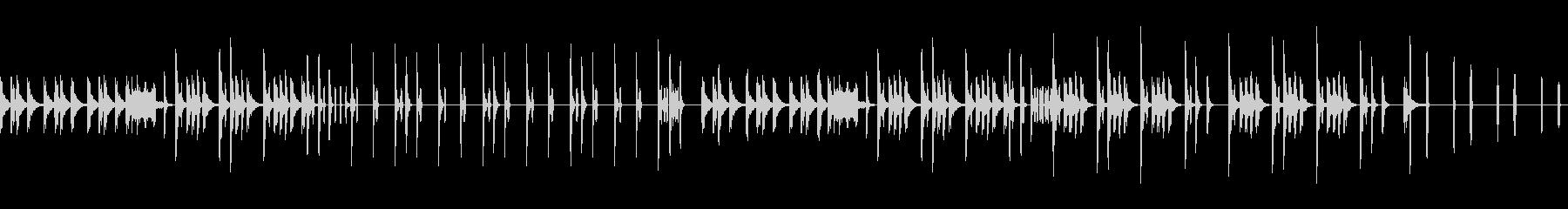 ジャングルをイメージしたスチールドラム曲の未再生の波形