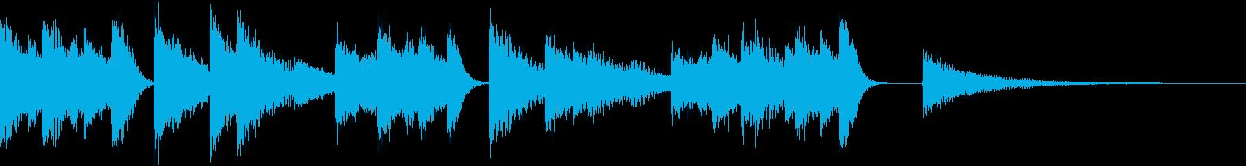 ゆらぎを感じる穏やかなピアノジングルの再生済みの波形