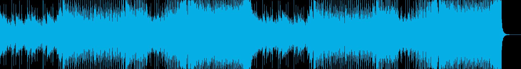 前向きで爽やかなテンポの良いハッピー曲の再生済みの波形
