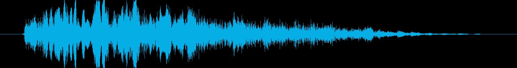 中キック(ミドルキック_ドキャッ)の再生済みの波形