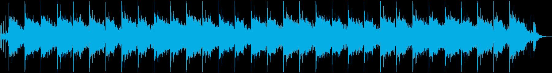 ガムラン風のサウンドをフィーチャーした曲の再生済みの波形