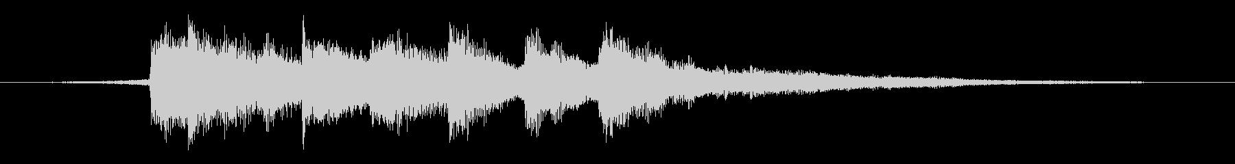 コーラスが入る落ち着いたピアノジングル の未再生の波形