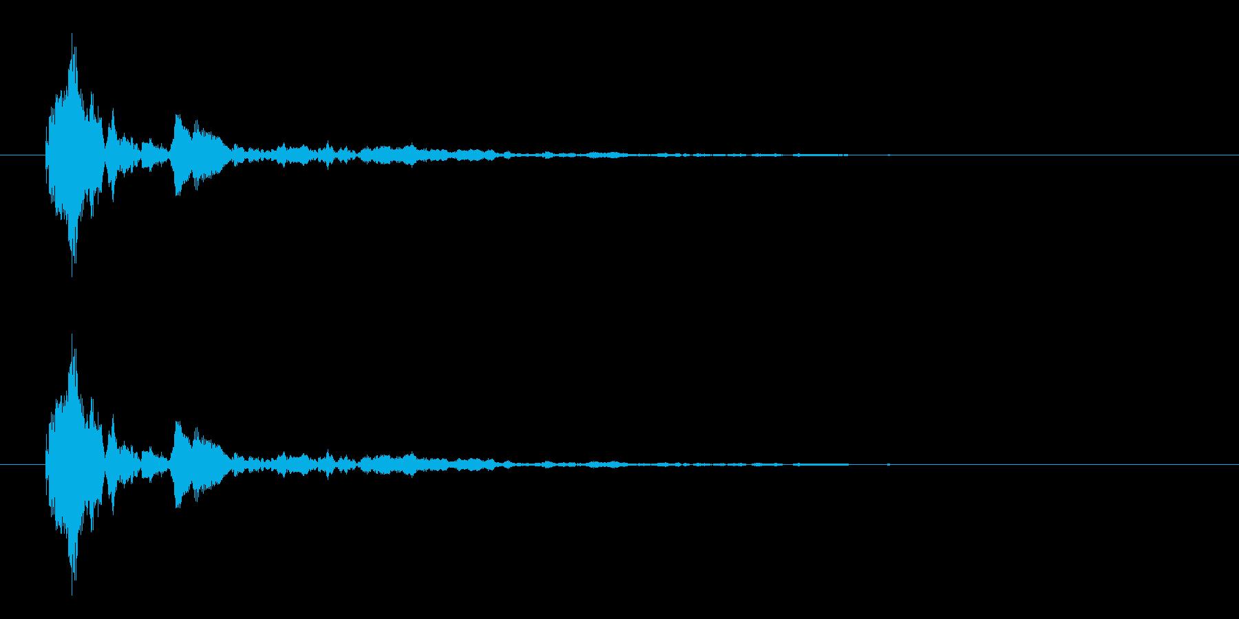 拍子木の音 カーン 火の用心の再生済みの波形