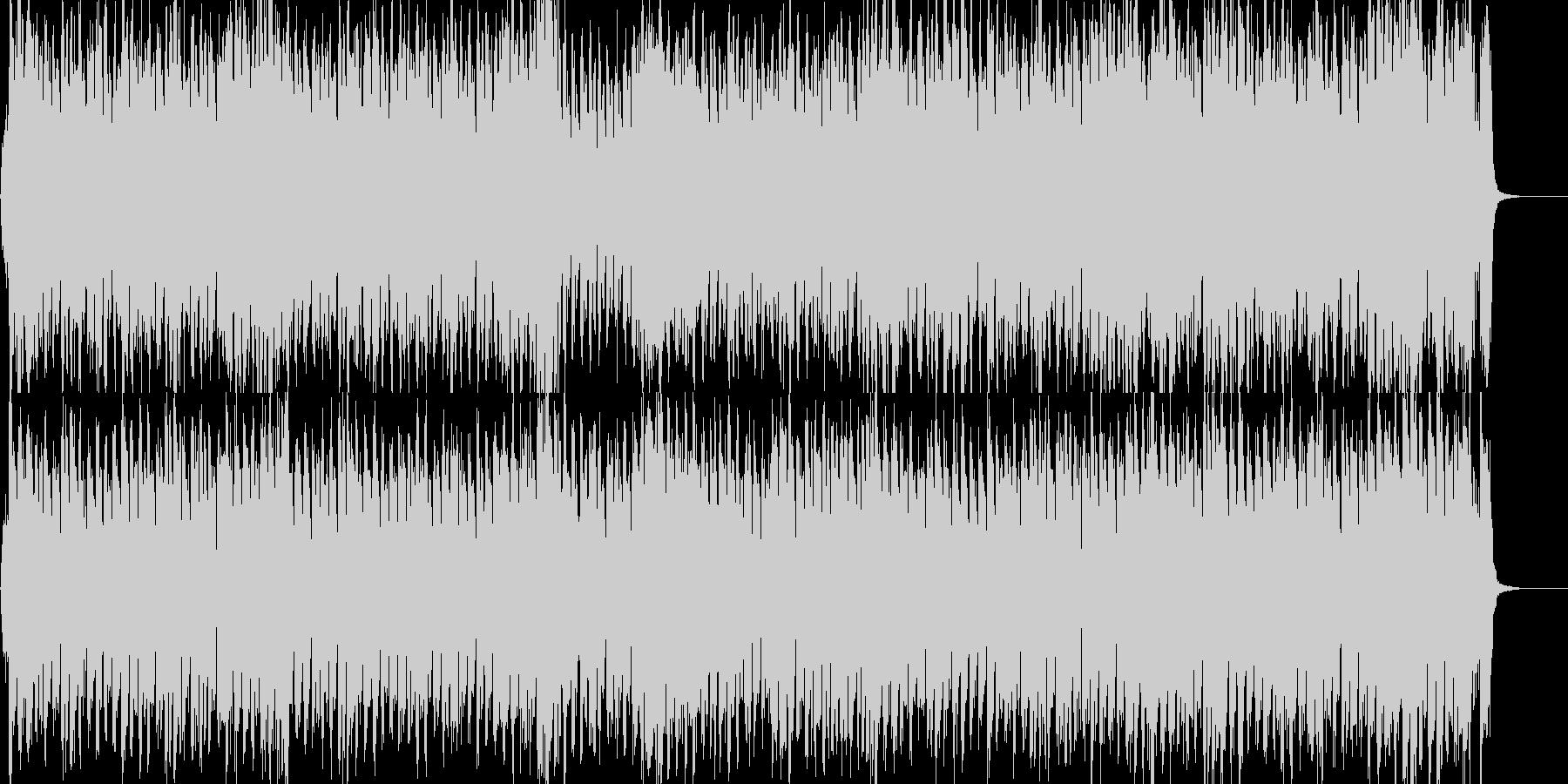ストリングスが爽やかな4つ打ちポップの未再生の波形