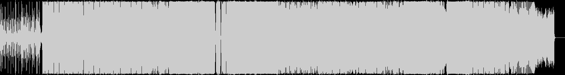 アフリカン調のハウスBGMの未再生の波形