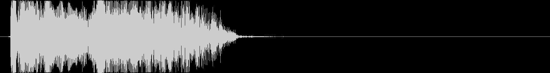 格闘ゲーム用「ダブルKO」の未再生の波形