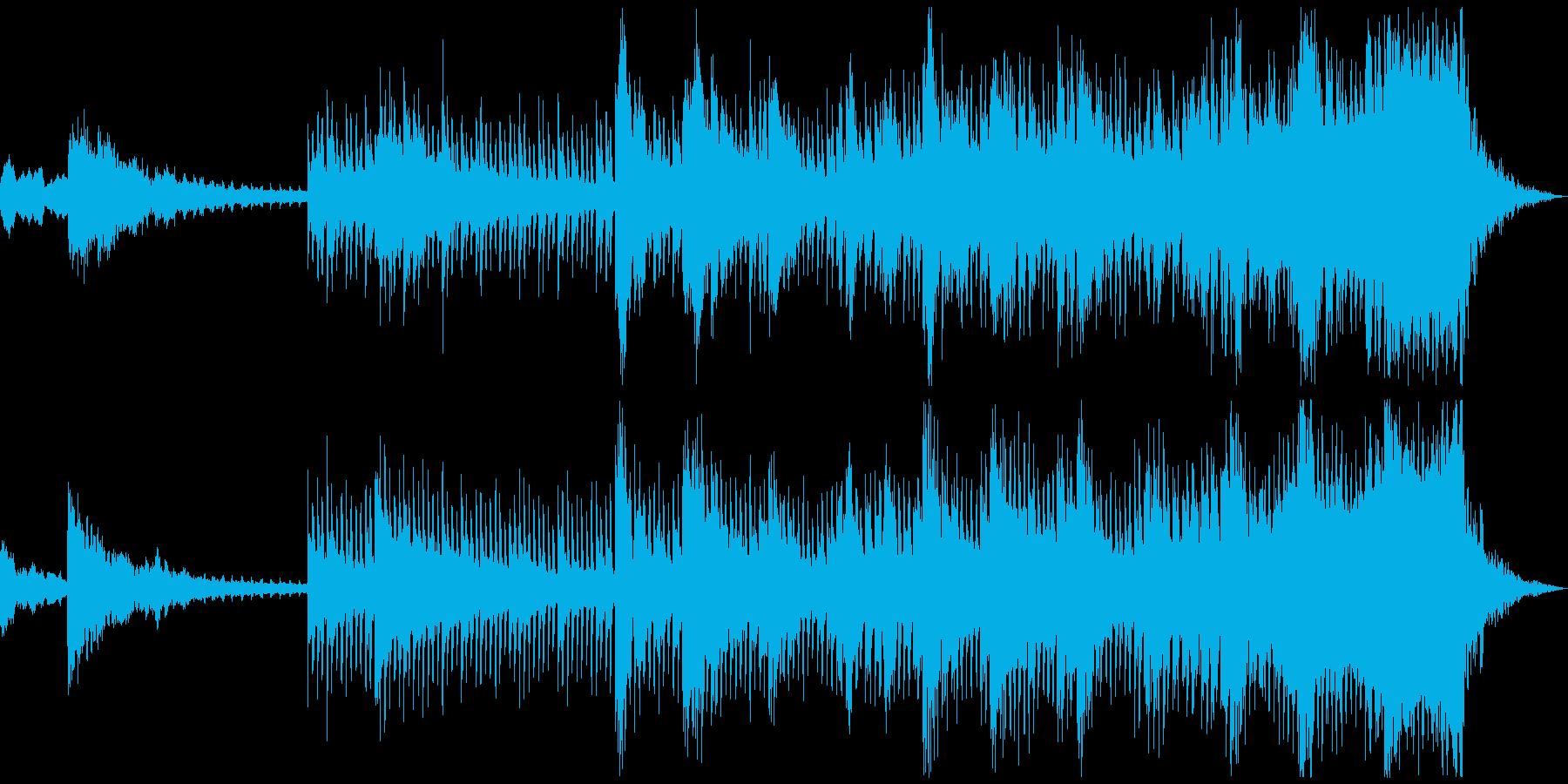 映画的なCMを想定したBGMの再生済みの波形