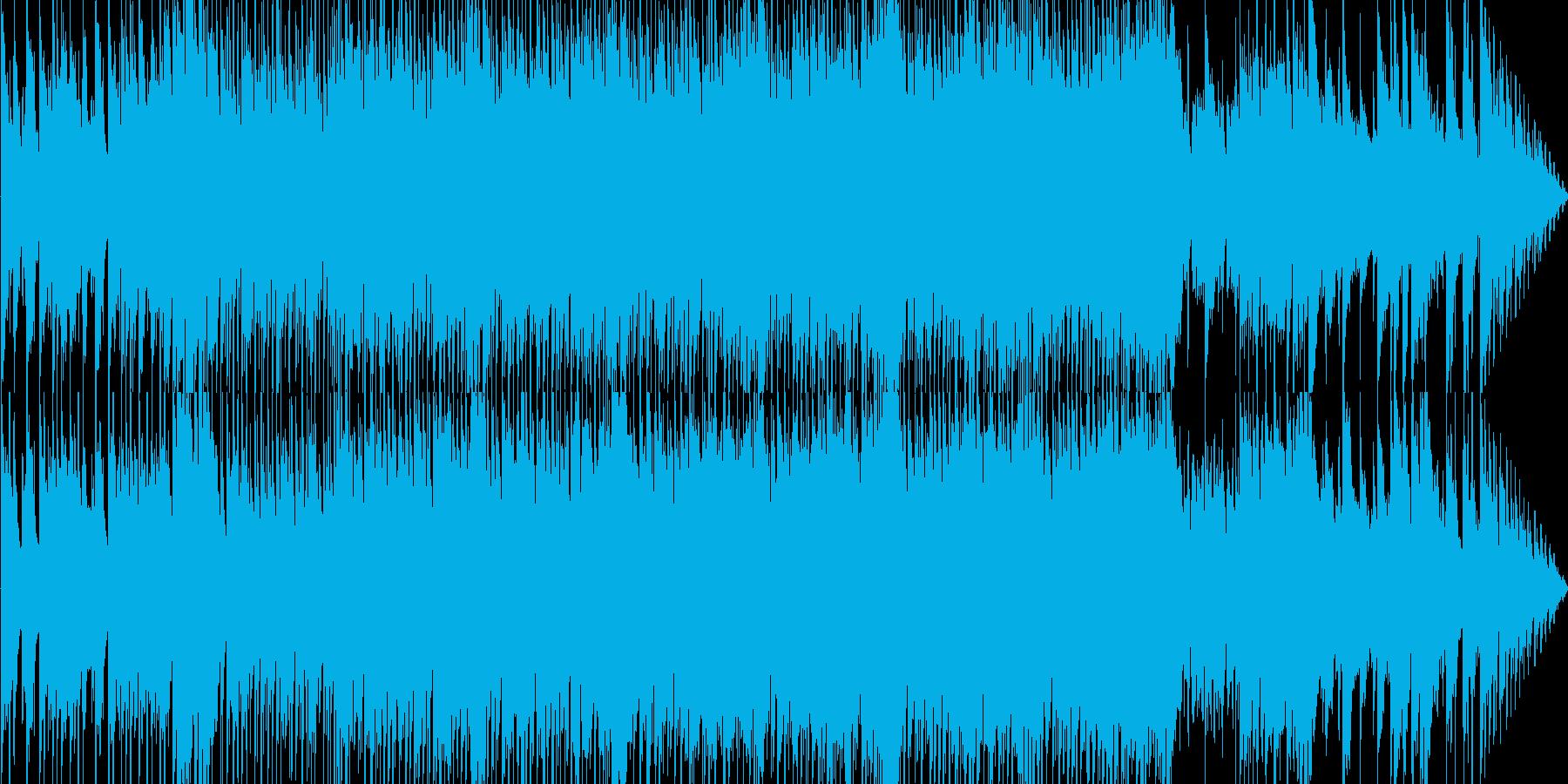 進行感のある冬曲の再生済みの波形
