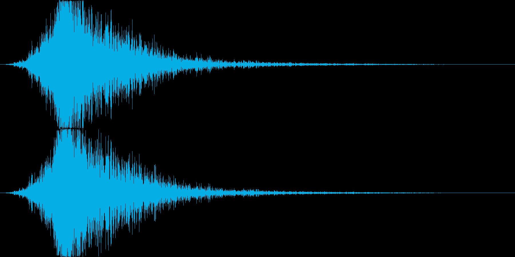 和太鼓とメタルアタックが混ざった感じの再生済みの波形