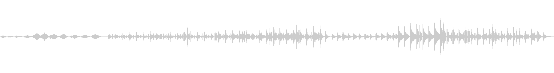ソロピアノとテクスチャ。の未再生の波形