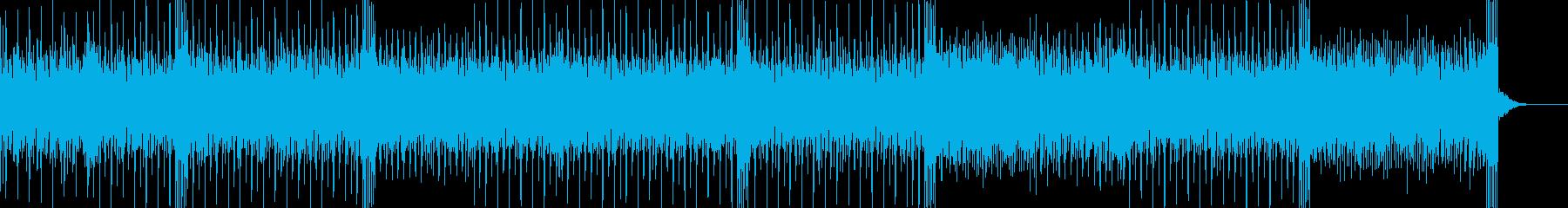トランスっぽいアルペジオが印象的なBGMの再生済みの波形