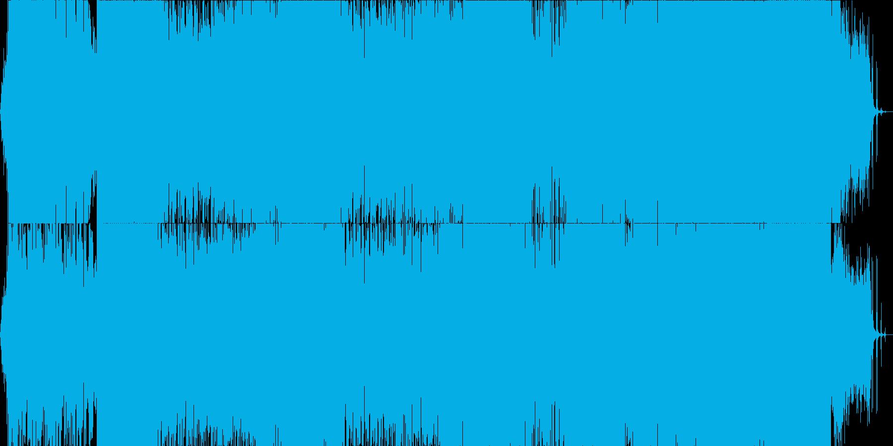 ロック ギターインスト 物語 雨の再生済みの波形