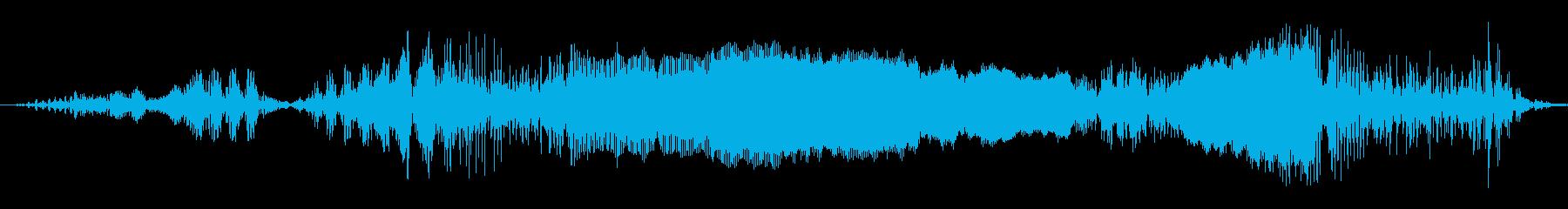 空手エール、男の再生済みの波形
