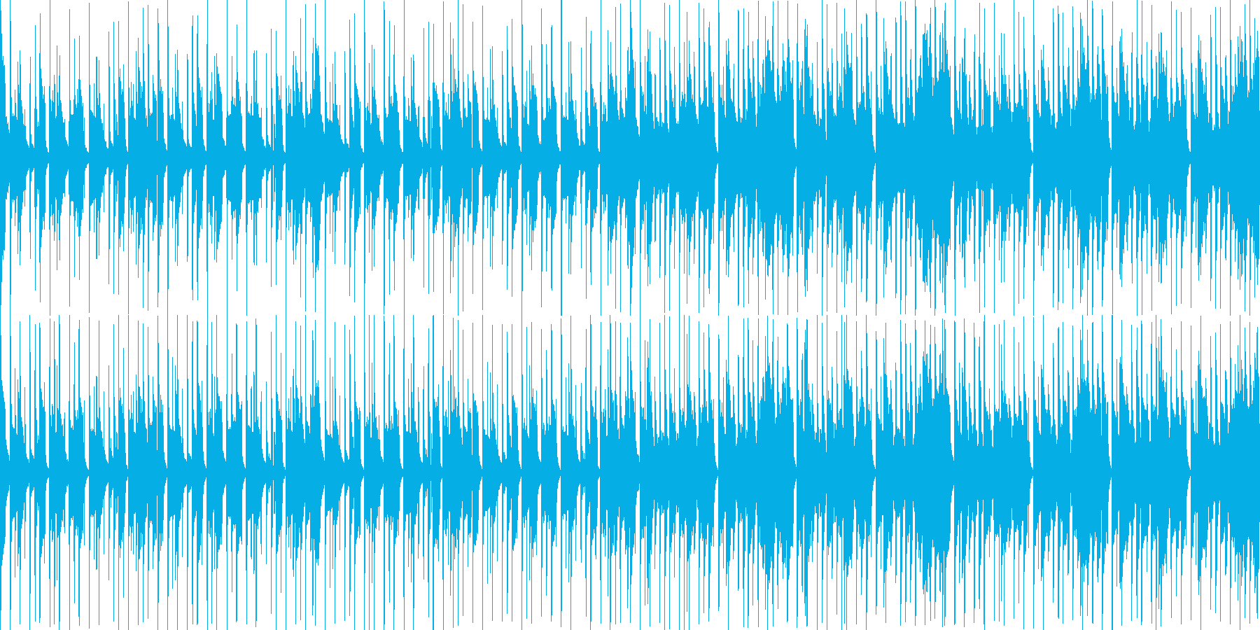ゲームセレクト画面で使えそうなループ素材の再生済みの波形