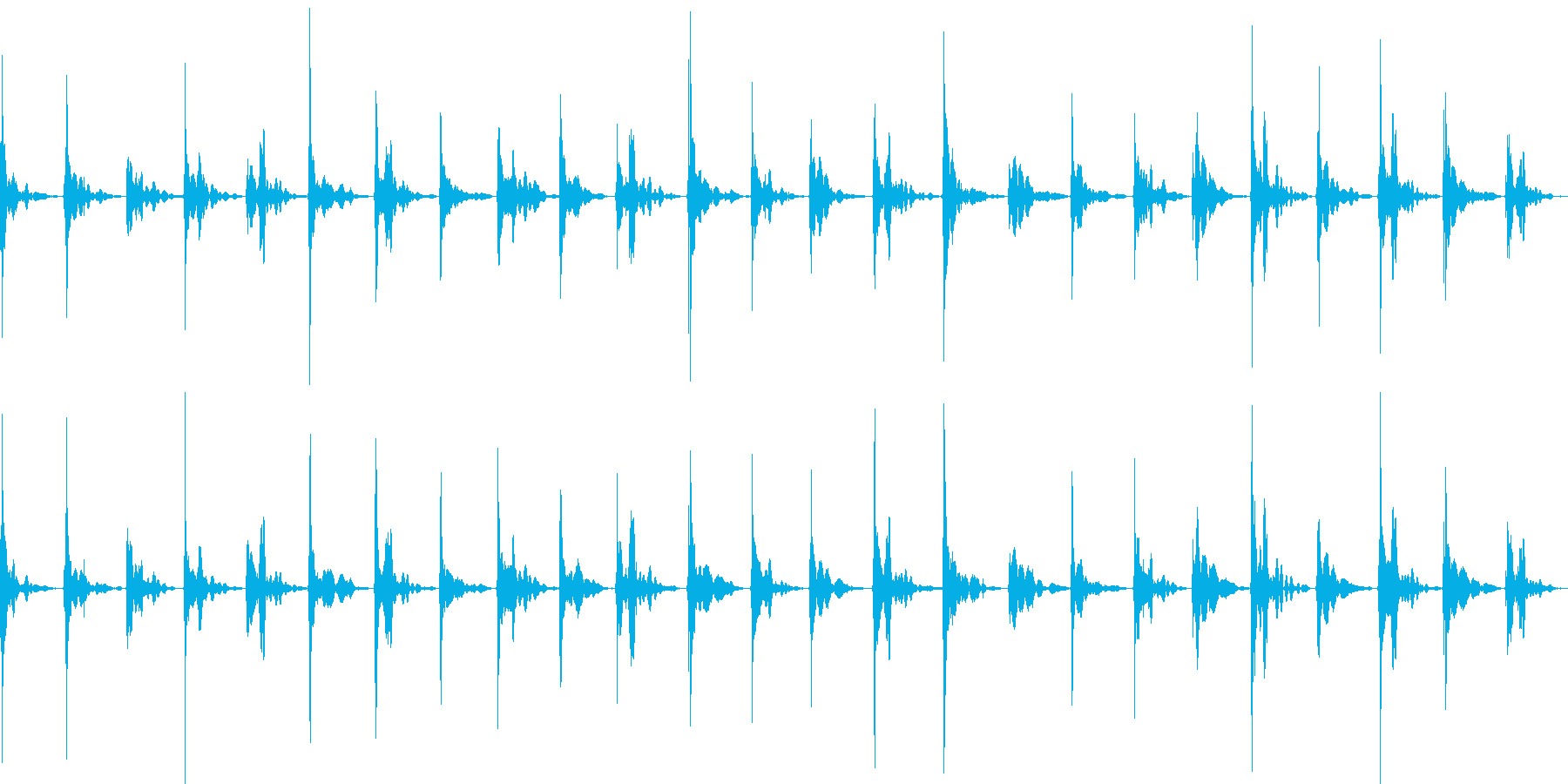 プールサイドを走るの再生済みの波形