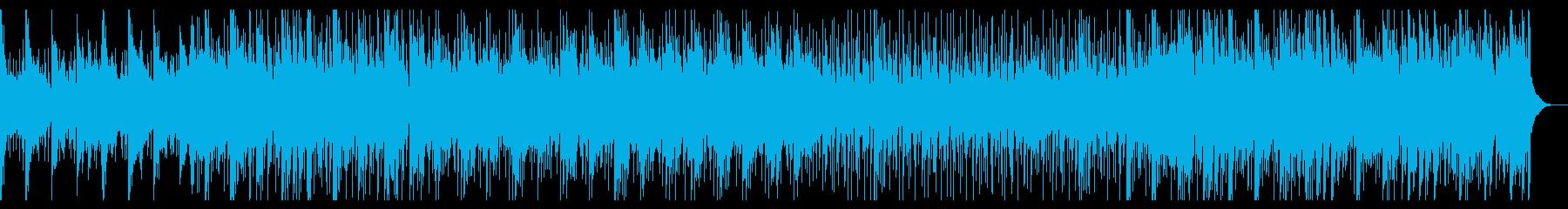 ほのぼのした雰囲気のポップス調曲の再生済みの波形