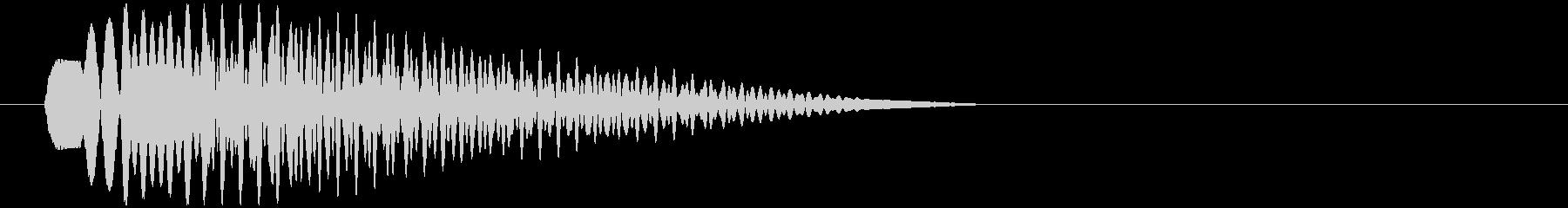 【SE/ボタン】アプリ音 正解 パララーの未再生の波形