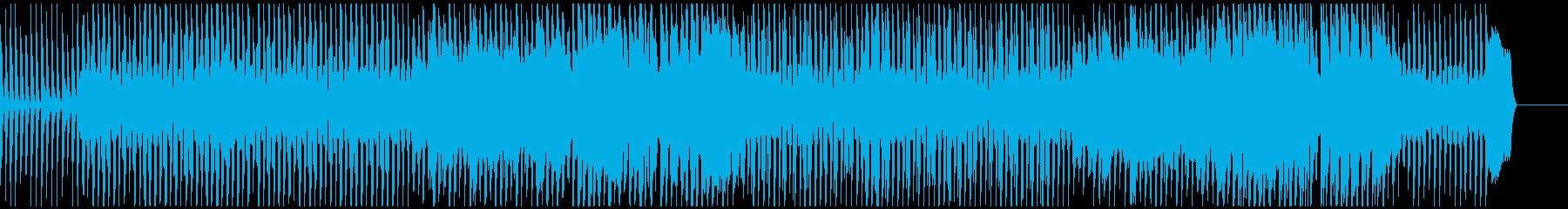 会話シーン向けのリコーダーとピアノBGMの再生済みの波形