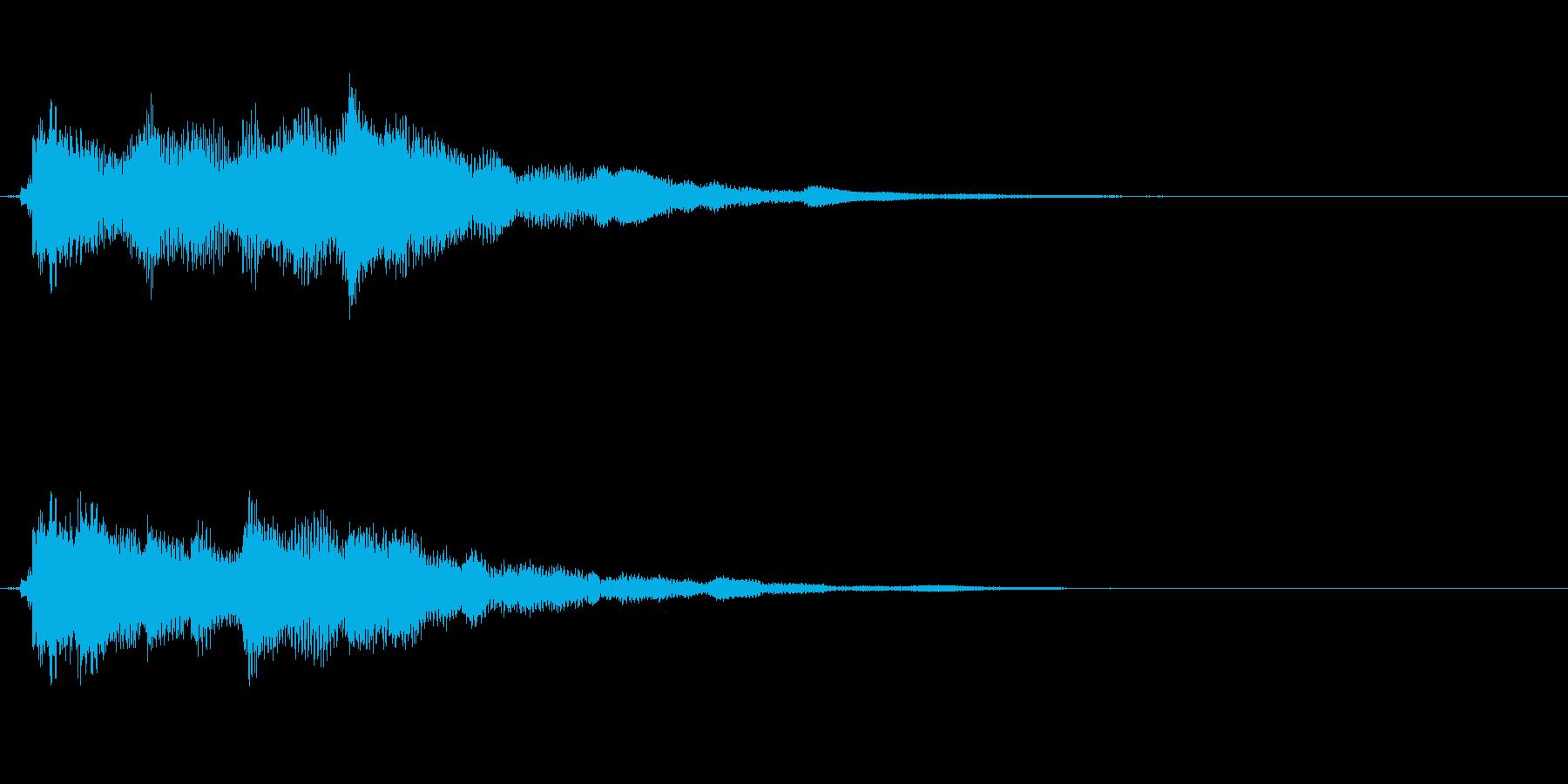 クリアーで爽やかなギターサウンドロゴの再生済みの波形