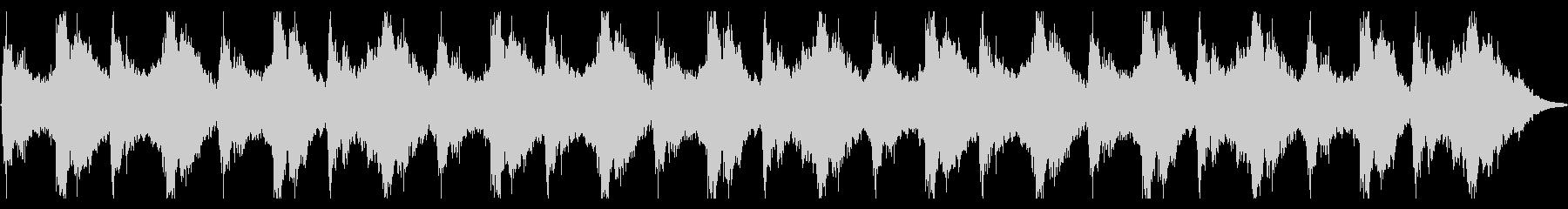 不安定なバイオリンの不穏なBGMの未再生の波形