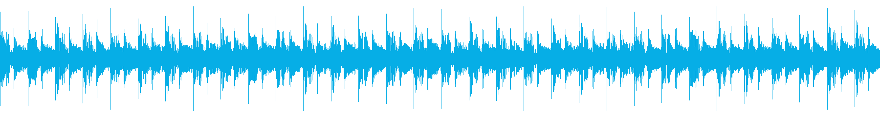 DeepHouse 静かなクラブビートの再生済みの波形