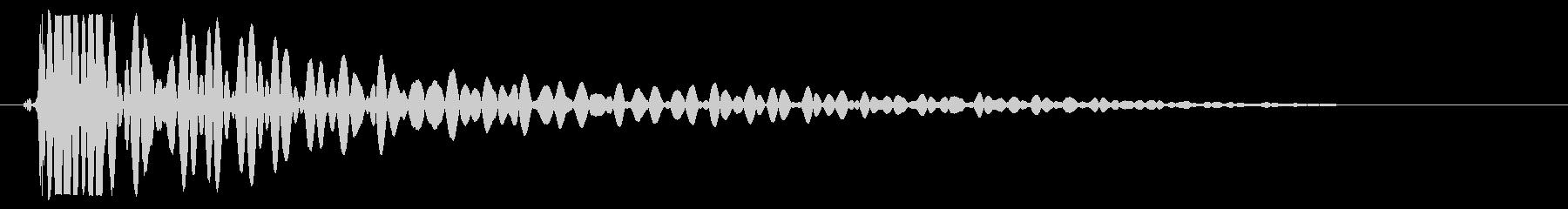 床置きのドラムをたたく音の未再生の波形