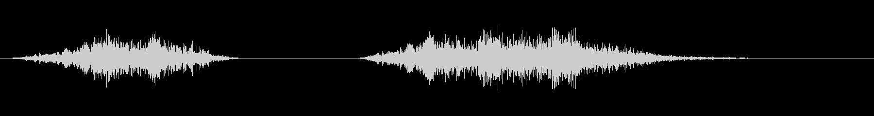 爆発2の未再生の波形