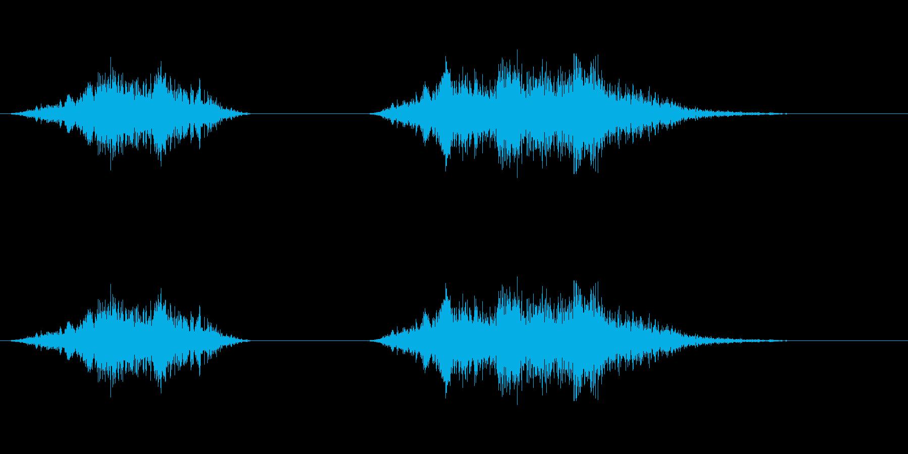 爆発2の再生済みの波形