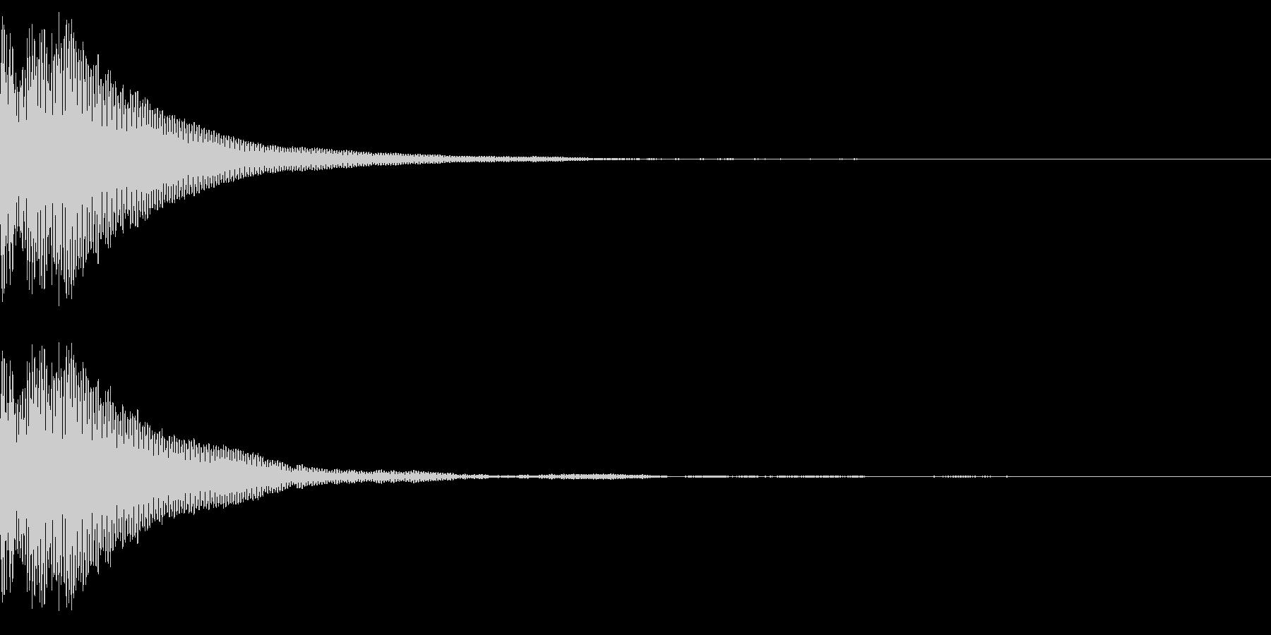 「ぽん」というタップ音の未再生の波形