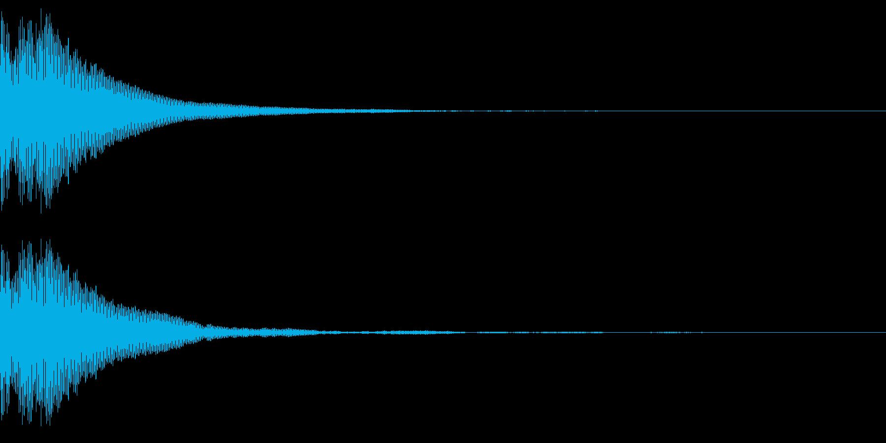 「ぽん」というタップ音の再生済みの波形