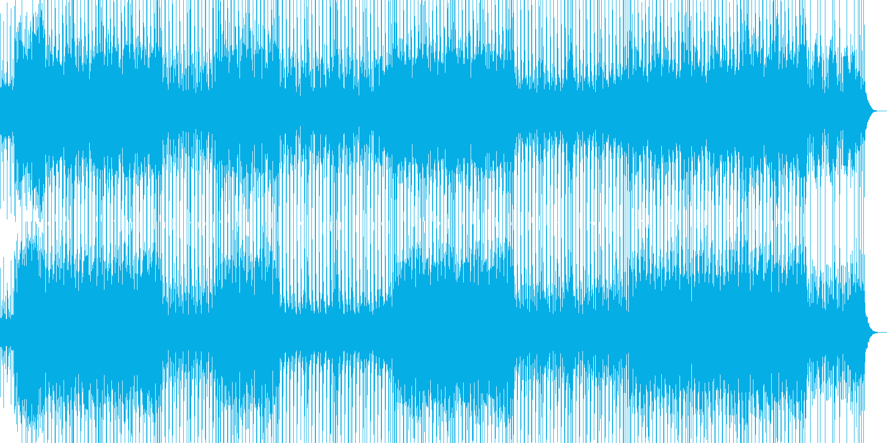 不思議なリズムとコード感のBGMの再生済みの波形