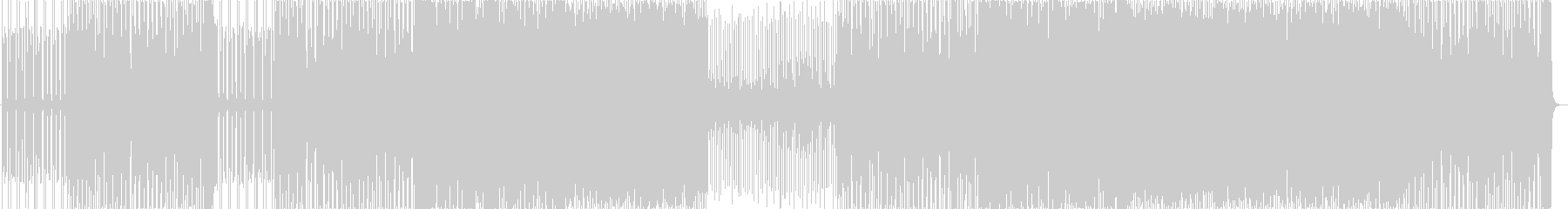 コミカルなダンス曲の未再生の波形